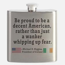 Michael D Higgins Quote Flask