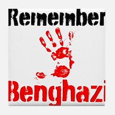 Remember Benghazi Tile Coaster