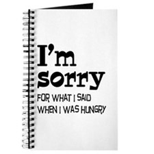 I'm Sorry Hungry Journal