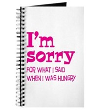I'm Sorry Hungry Pink Journal