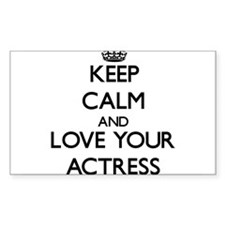 Keep Calm and Love your Actress Decal