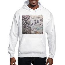 paris vinage scripts floral Hoodie Sweatshirt