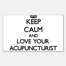 Keep Calm and Love your Acupuncturist Decal