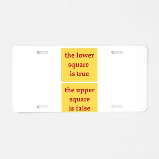 logic Aluminum License Plate