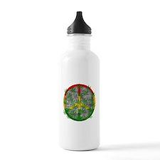 Peaceful Rasta Weed Water Bottle
