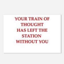 train of thought Postcards (Package of 8)