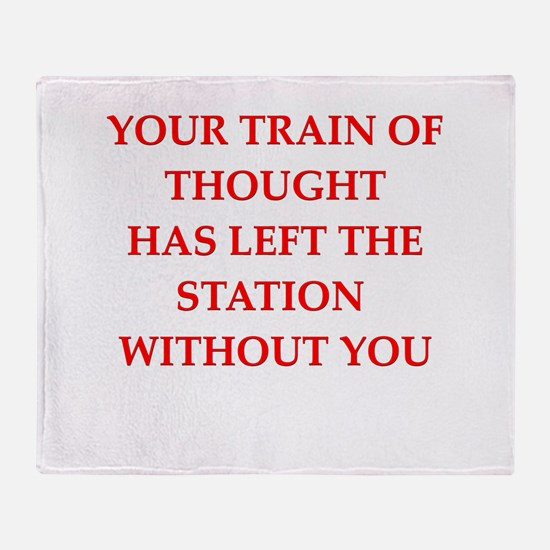 train of thought Throw Blanket