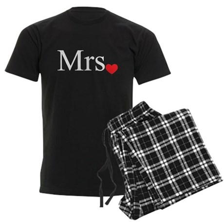 Mrs with heart dot - part of Mr and Mrs set Pajama