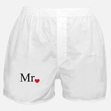 Mrs with heart dot - part of Mr and Mrs set Boxer