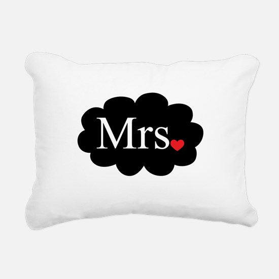 Mrs with heart dot on cloud (Mr and Mrs set) Recta