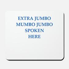 mumbo jumbo Mousepad