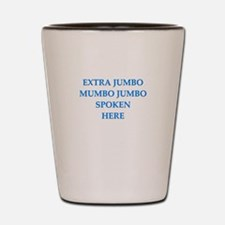mumbo jumbo Shot Glass