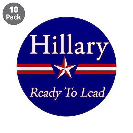 "Hillary Clinton 2016 3.5"" Button (10 pack)"