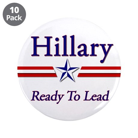 "Hillary Clinton 2016 3.5"" Button (10 pack)"