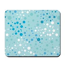 Retro Dots Aqua Mousepad