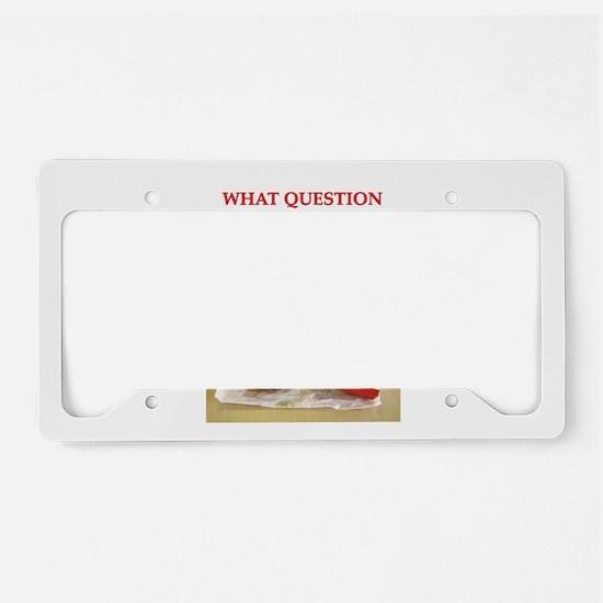 philosophy License Plate Holder