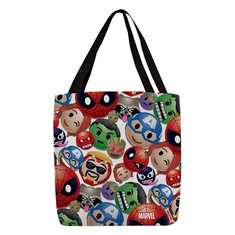 Marvel Emoji Faces Polyester Tote Bag