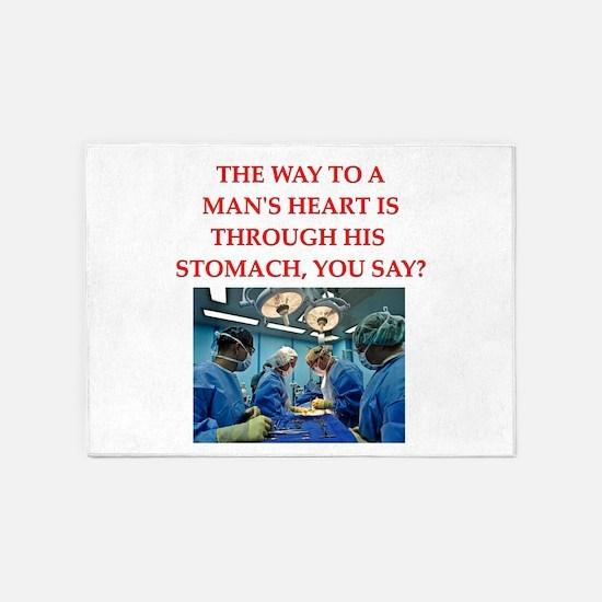 cardiology 5'x7'Area Rug