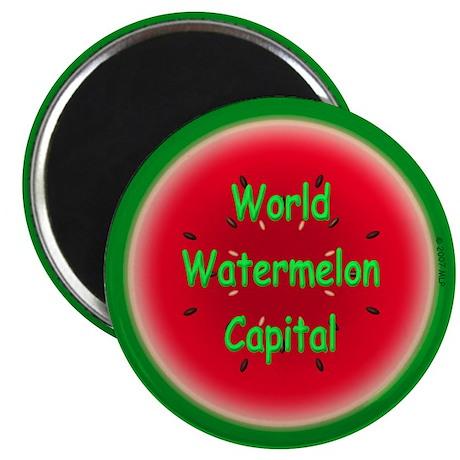 "Watermelon Capital-Cordele 2.25"" Magnet (10 pack)"