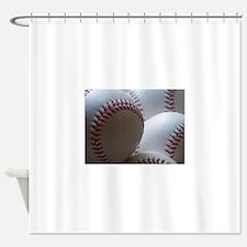 Baseballs Shower Curtain