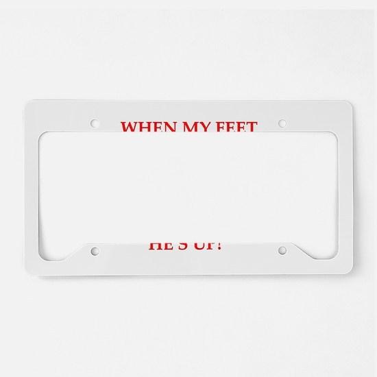 hit the floor License Plate Holder