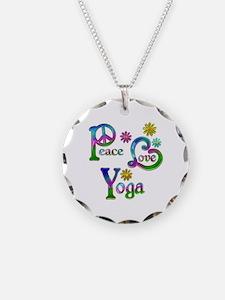 Peace Love Yoga Necklace