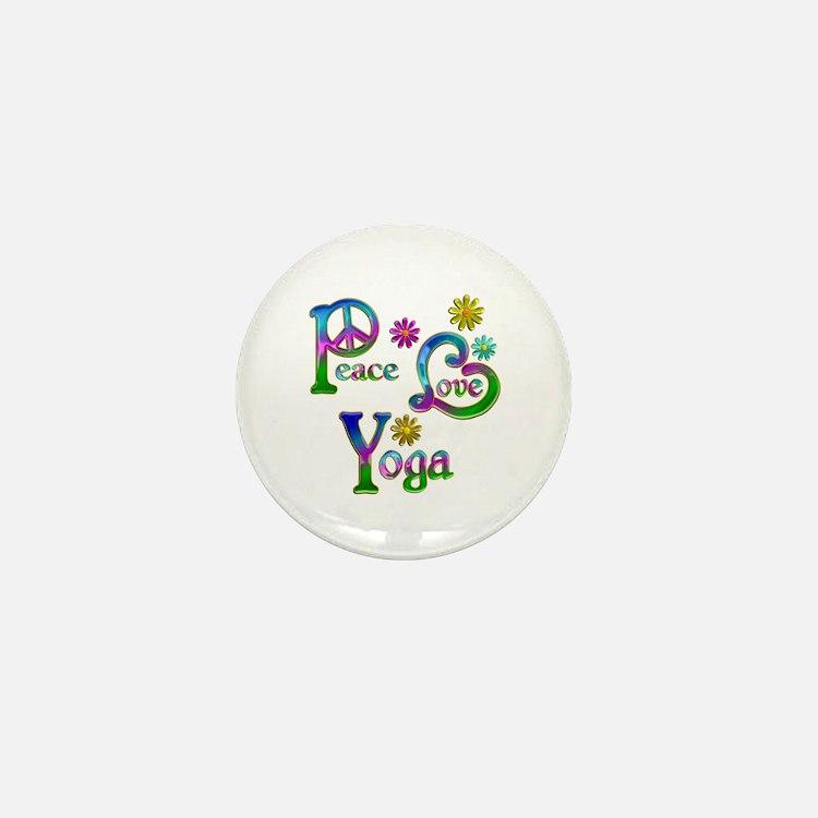 Peace Love Yoga Mini Button