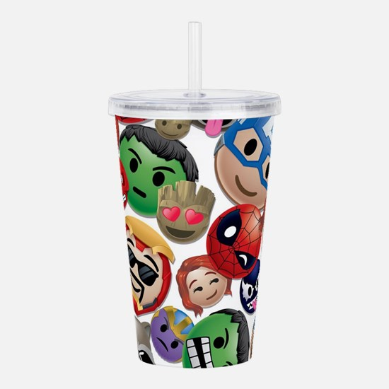 Marvel Emoji Faces Acrylic Double-wall Tumbler