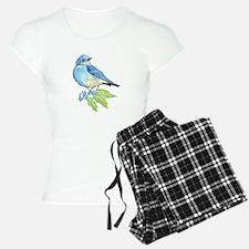 Watercolor Mountain Bluebird Bird nature Art pajam
