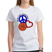 PEACE, LOVE, B-BALL Tee