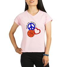 PEACE, LOVE, B-BALL Performance Dry T-Shirt