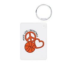 PEACE, LOVE, B-BALL Keychains