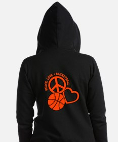 PEACE, LOVE, B-BALL Women's Zip Hoodie