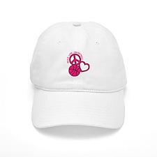 PEACE, LOVE, B-BALL Baseball Cap