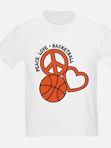PEACE, LOVE, B-BALL T-Shirt