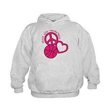 PEACE, LOVE, B-BALL Hoodie