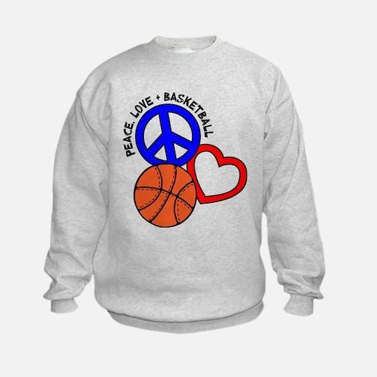 PEACE, LOVE, B-BALL Sweatshirt