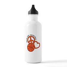 PEACE, LOVE, B-BALL Water Bottle
