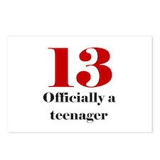 13 Teenager Postcards (Package of 8)