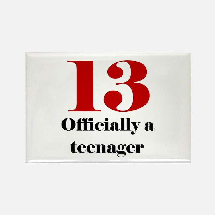 13 Teenager Rectangle Magnet