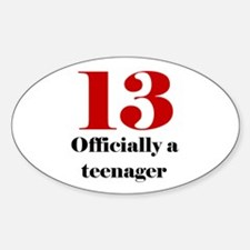 13 Teenager Oval Decal