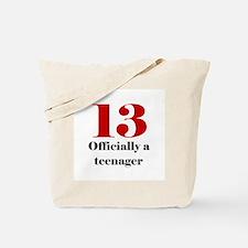 13 Teenager Tote Bag
