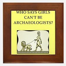 archaeology Framed Tile