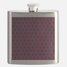 Red and Blue Stars Flask