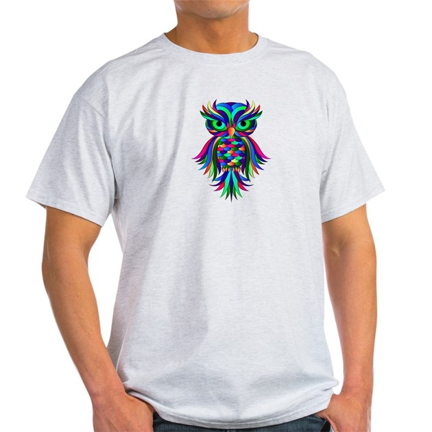 Owl design light t shirt owl design t shirt T shirt with owl design