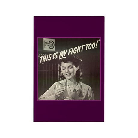Women in WWII Rectangle Magnet