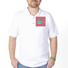 Whale on Red and White Stripes T-Shirt