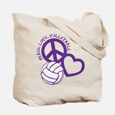 PEACE, LOVE, VB Tote Bag