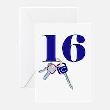 16 Keys Greeting Cards (Pk of 10)
