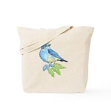 Watercolor Mountain Bluebird Bird nature Art Tote